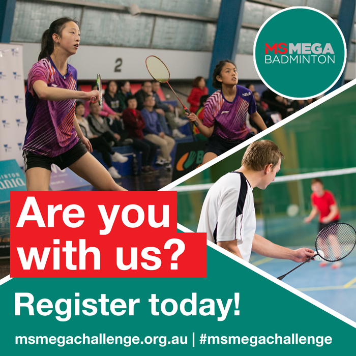 MS Mega Challenge - social tiles - Badminton - Register today
