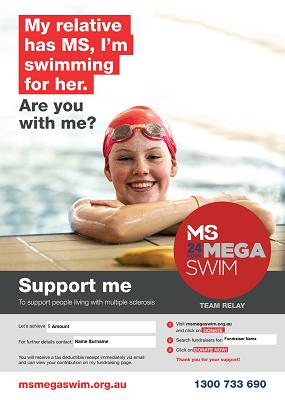 MS Mega Swim - Support Me Poster