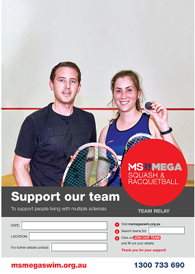 MS Mega Squash & Racquetball - Support Our Team Poster