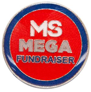 Fundraising rewards pin