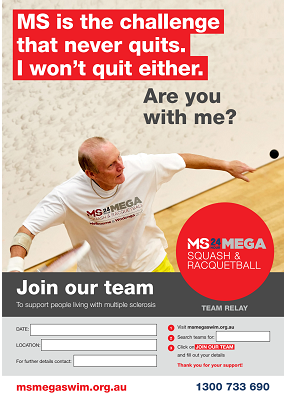 MS Mega Squash & Racquetball - Join Our Team Poster