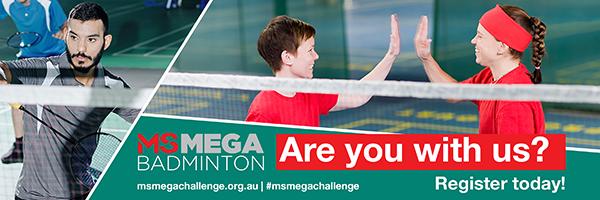 Mega Challenge - participant banner - badminton
