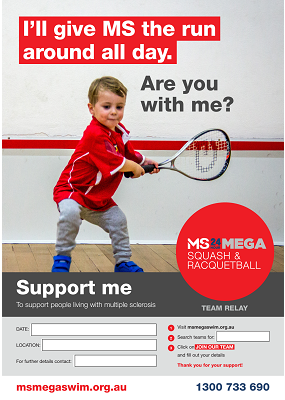 MS Mega Squash & Racquetball - Support Me Poster