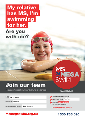 MS Mega Swim - Join Our Team Poster