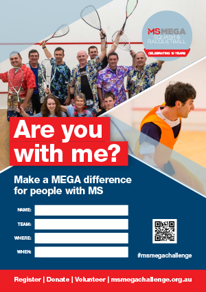 MS Mega Squash & Racquetball  - Are you with me?